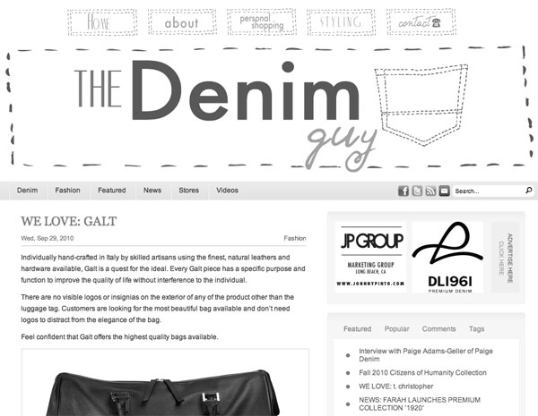 The Denim Guy Loves GALT